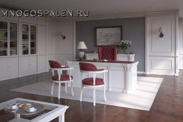 Кабинет Monarch (White) купить в салоне-студии мебели Барселона mnogospalen.ru много спален мебель Италии классические современные