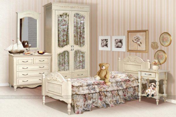 Детская «Франсуаза» купить в салоне-студии мебели Барселона mnogospalen.ru много спален мебель Италии классические современные