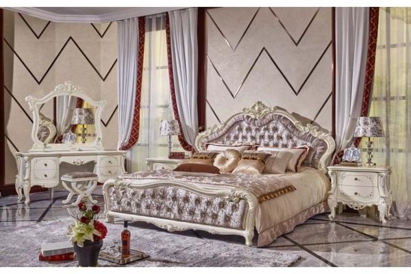 Спальня Руссано светлая купить в салоне-студии мебели Барселона mnogospalen.ru много спален мебель Италии классические современные