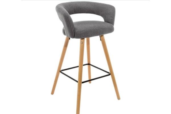 Барный стул Mars серый с ножками из массива бука купить в салоне-студии мебели Барселона mnogospalen.ru много спален мебель Италии классические современные