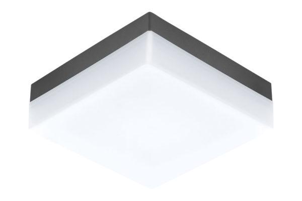94872 Уличный светодиодный светильник настенно-потол. SONELLA, 8,2W(LED), 215х215, пластик, черный купить в салоне-студии мебели Барселона mnogospalen.ru много спален мебель Италии классические современные